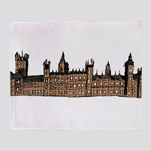 Graphical Sketch Houses of Parliament Throw Blanke