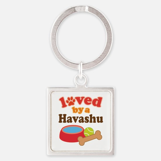 Loved By A Havashu Square Keychain