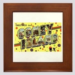 Coney island wall art cafepress greetings from coney island framed tile m4hsunfo