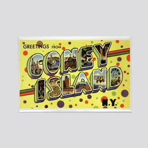 Greetings from Coney Island Rectangle Magnet