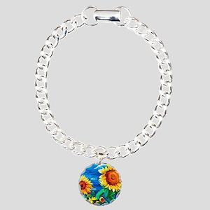 Sunflowers Painting Bracelet