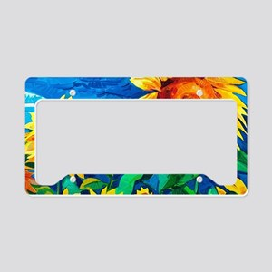 Sunflowers Painting License Plate Holder