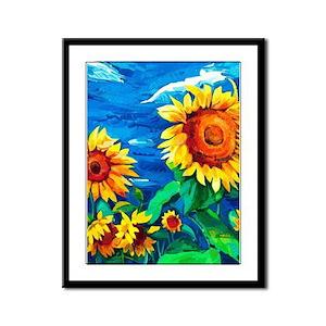 Sunflowers Painting Framed Panel Print
