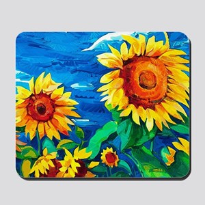 Sunflowers Painting Mousepad