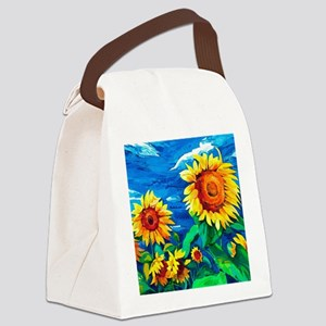 Sunflowers Painting Canvas Lunch Bag