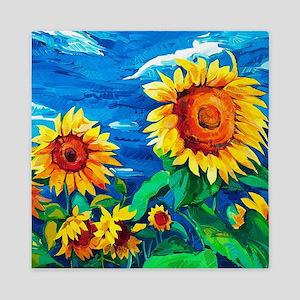 Sunflowers Painting Queen Duvet