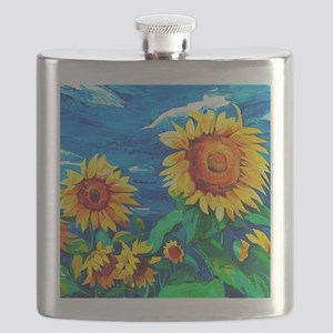 Sunflowers Painting Flask