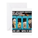 Chief Czar Live Life With A Dog Greeting Cards