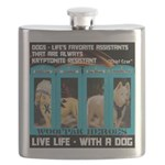 Chief Czar Live Life With A Dog Flask