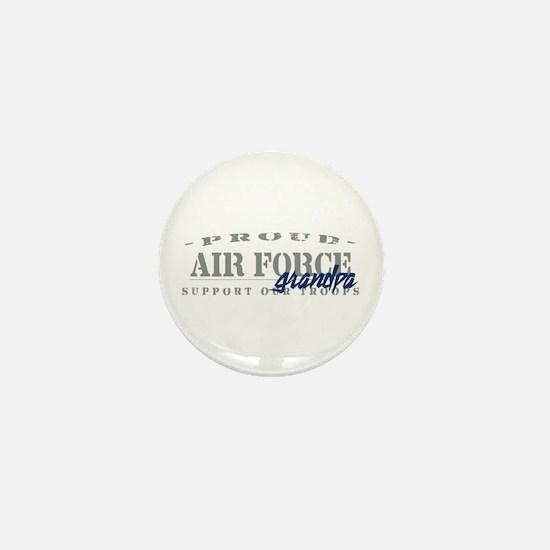 Proud Air Force Grandpa (Blue) Mini Button