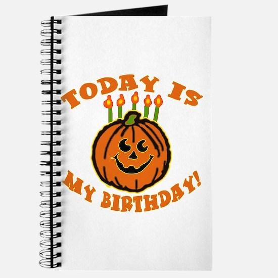 My Halloween Birthday Journal