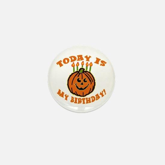 My Halloween Birthday Mini Button