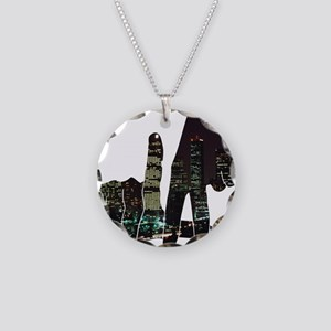 LA Necklace Circle Charm