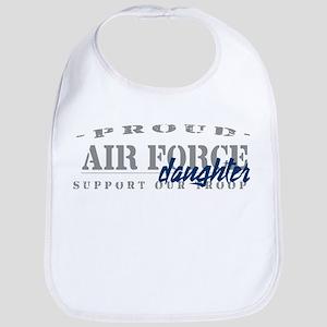Proud Air Force Daughter (Blue) Bib