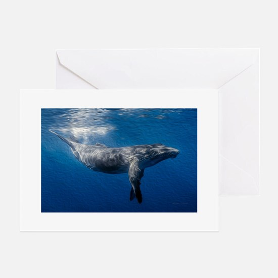 Humpback Whale Under Ocean Surface Greeting Card