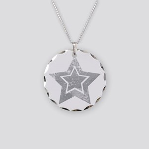 Cowboy star Necklace Circle Charm