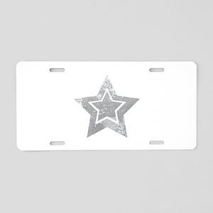 Cowboy star Aluminum License Plate