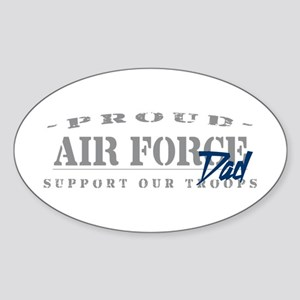 Proud Air Force Dad (Blue) Oval Sticker
