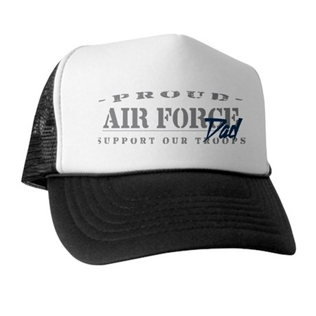 Proud Air Force Dad (Blue) Trucker Hat