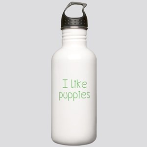 I like puppies Water Bottle