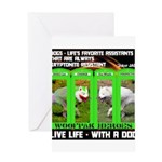 Joker Jag Live Life With A Dog Greeting Cards