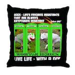 Joker Jag Live Life With A Dog Throw Pillow