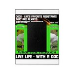 Joker Jag Live Life With A Dog Picture Frame