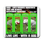 Joker Jag Live Life With A Dog Mousepad