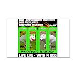 Joker Jag Live Life With A Dog Car Magnet 20 x 12