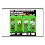 Joker Jag Live Life With A Dog Banner