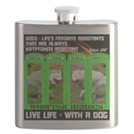 Joker Jag Live Life With A Dog Flask