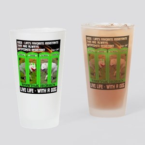 Joker Jag Live Life With A Dog Drinking Glass