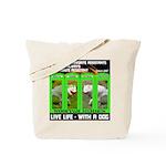 Joker Jag Live Life With A Dog Tote Bag