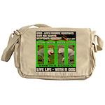 Joker Jag Live Life With A Dog Messenger Bag