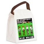 Joker Jag Live Life With A Dog Canvas Lunch Bag