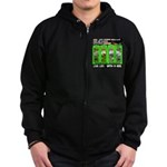 Joker Jag Live Life With A Dog Zip Hoodie