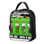 Joker Jag Live Life With A Dog Neoprene Lunch Bag