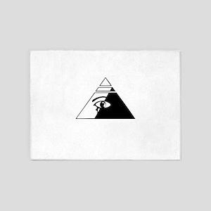 Eye of the pyramid 5'x7'Area Rug