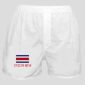 costa rica Flag Artistic Red Design Boxer Shorts