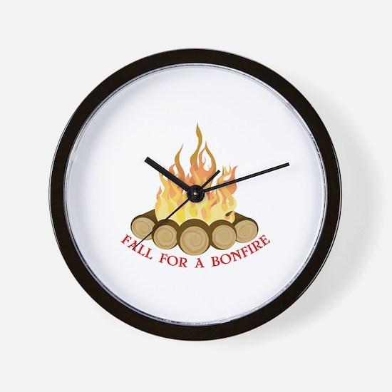 A Bonfire Wall Clock
