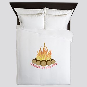 By The Fire Queen Duvet
