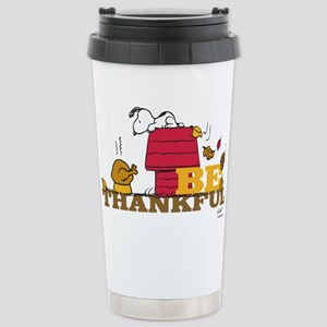 Snoopy: Be Thankful Stainless Steel Travel Mug