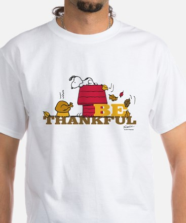 Snoopy: Be Thankful White T-Shirt