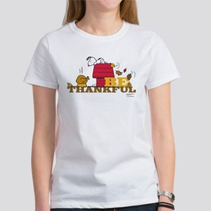 Snoopy: Be Thankful Women's T-Shirt