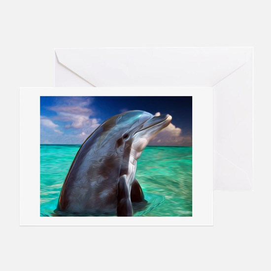 Dolphin Profile Greeting Card