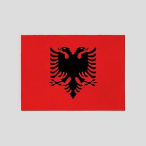Flag Of Albania 5'x7'area Rug