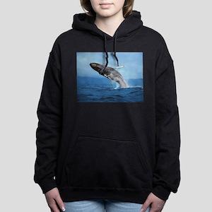 Humpback Whale Leap Women's Hooded Sweatshirt
