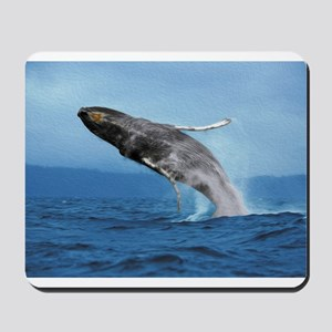 Humpback Whale Leap Mousepad