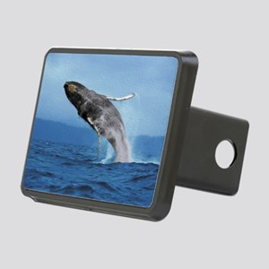 Humpback Whale Leap Rectangular Hitch Cover