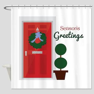 Seasons Greetings Shower Curtain